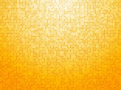 Colorful yellow checkered background - stock illustration