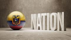 Ecuador. Nation Concept. - stock illustration
