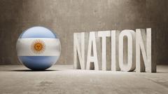 Argentina. Nation Concept. Stock Illustration