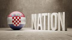 Croatia. Nation Concept. - stock illustration