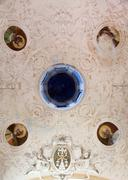 Ceiling in the Oratory of the Dead in the Old Town at Monterosso al Mare, Italy Stock Photos