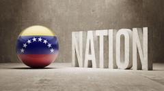 Venezuela. Nation Concept. - stock illustration