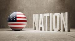 United States. Nation Concept. - stock illustration