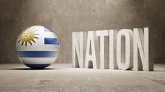 Uruguay. Nation Concept. - stock illustration