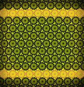 luxurious  pattern of round colored laces - stock illustration