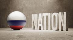 Russia. Nation Concept. Stock Illustration