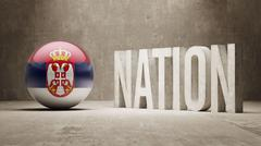 Stock Illustration of Serbia. Nation Concept.