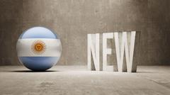Argentina. New Concept. - stock illustration