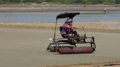 Salt Extraction Process In Thailand - 14 Stock Footage