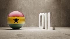 Stock Illustration of Ghana. Oil Concept.