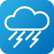 Weather web icon with cloud and rain Stock Illustration