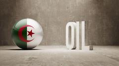 Stock Illustration of Algeria. Oil Concept.