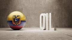 Stock Illustration of Ecuador. Oil Concept.