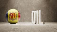 Andorra. Oil Concept. Stock Illustration