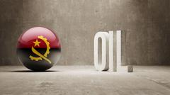 Angola. Oil Concept. - stock illustration