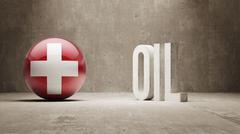Stock Illustration of Switzerland. Oil Concept.