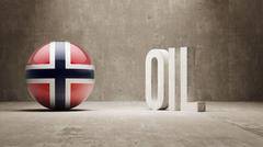 Stock Illustration of Norway. Oil Concept.