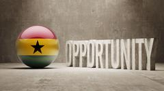 Ghana. Opportunity Concept. Piirros