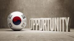 Stock Illustration of South Korea. Opportunity Concept.