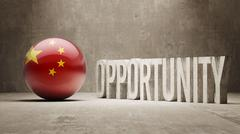 Stock Illustration of China. Opportunity Concept.