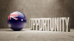 Stock Illustration of Australia. Opportunity Concept.