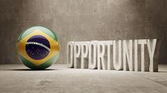 Stock Illustration of Brazil. Opportunity Concept.