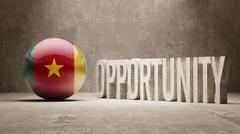 Cameroon. Opportunity Concept. - stock illustration