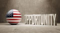 United States. Opportunity Concept. - stock illustration