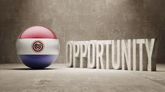 Stock Illustration of Paraguay. Opportunity Concept.