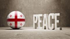 Stock Illustration of Georgia Peace Concept.