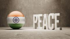 India. Peace Concept. Stock Illustration
