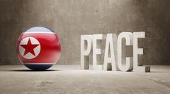 North Korea. Peace Concept. Stock Illustration