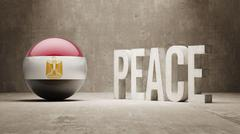 Egypt. Peace Concept. - stock illustration