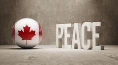 Canada. Peace Concept. - stock illustration