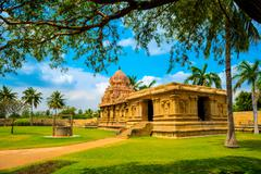Part of architecture Hindu Temple dedicated to Shiva, fragment complex ancien - stock photo