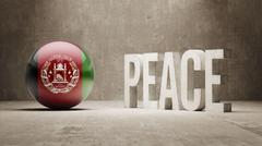 Afghanistan. Peace Concept. - stock illustration