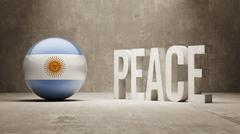 Argentina. Peace Concept. Stock Illustration