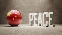 China. Peace Concept. - stock illustration