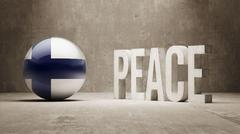 Finland. Peace Concept. - stock illustration