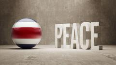 Costa Rica. Peace Concept. Stock Illustration