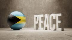 Bahamas. Peace Concept. Stock Illustration