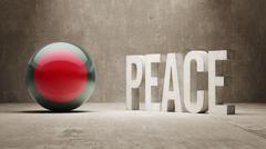 Bangladesh. Peace Concept. Stock Illustration