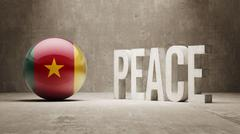 Cameroon. Peace Concept. Stock Illustration