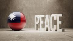 Taiwan. Peace Concept. Stock Illustration