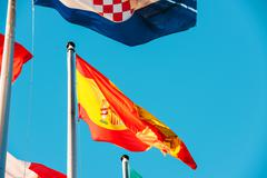 Portugal National flag waving i Stock Photos