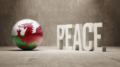 Wales. Peace Concept. Stock Illustration