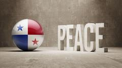 Panama. Peace Concept. Stock Illustration