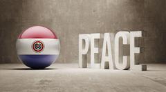 Paraguay. Peace Concept. - stock illustration