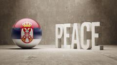 Serbia. Peace Concept. Stock Illustration