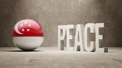 Singapore Peace Concept. Stock Illustration
